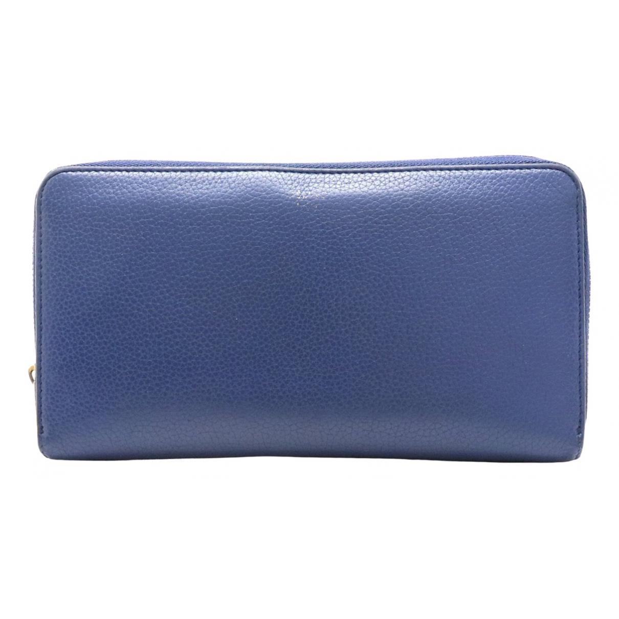 Celine \N Blue Leather wallet for Women \N