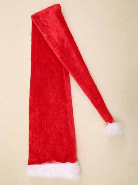 Milanoo Disfraz Halloween Disfraz de Navidad Sombrero Pompon peludo Decoraciones de disfraces navideños largos Carnaval Halloween