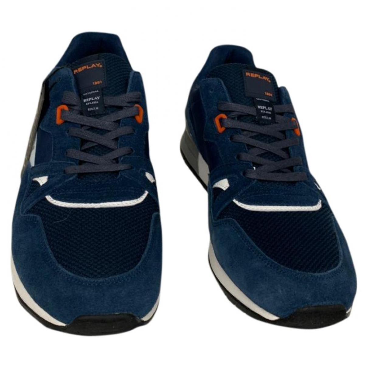 Replay \N Sneakers in  Blau Veloursleder