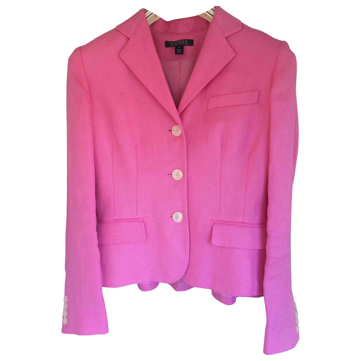 Lauren Ralph Lauren \N Pink Linen jacket for Women 4 US