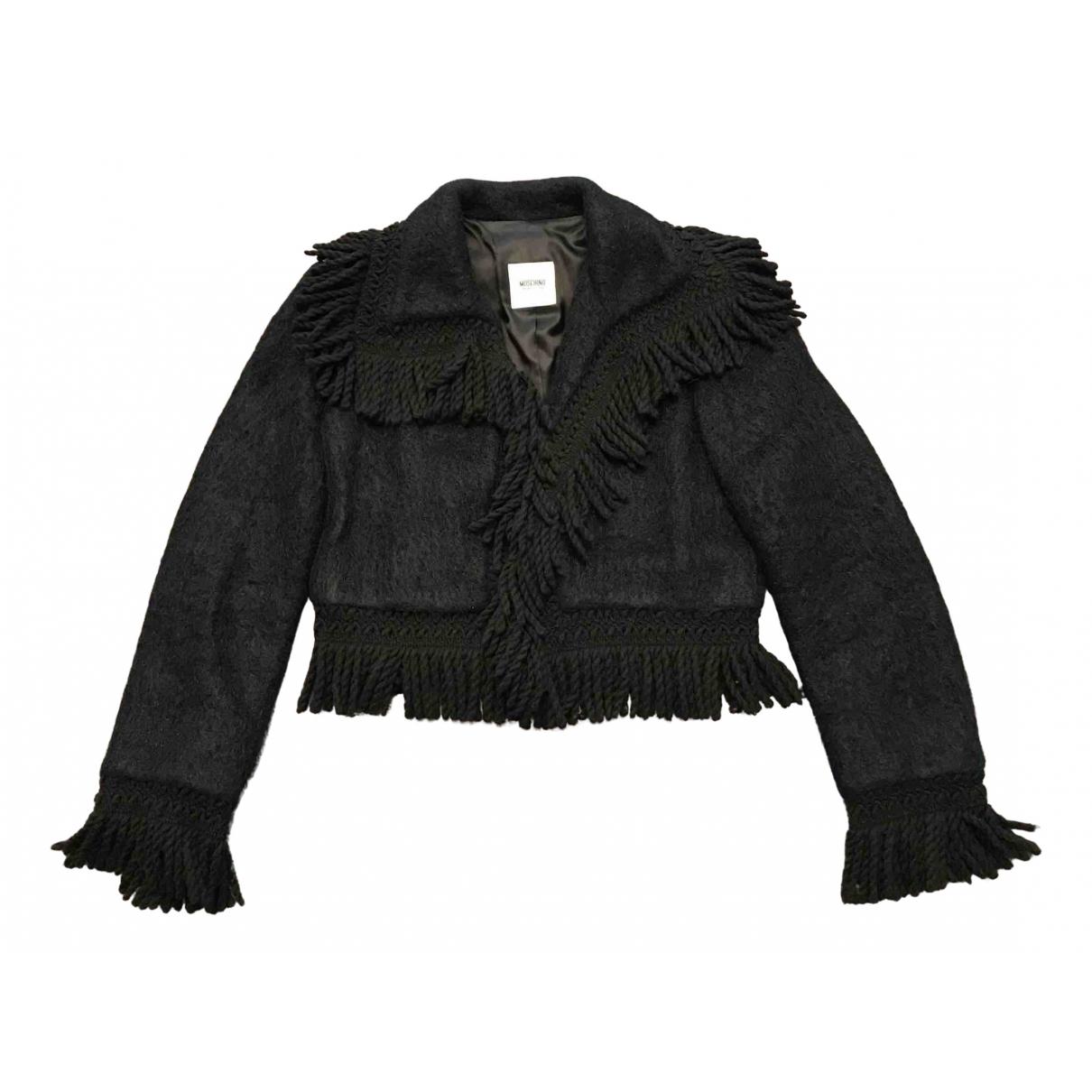 Moschino Cheap And Chic - Veste   pour femme en laine - noir