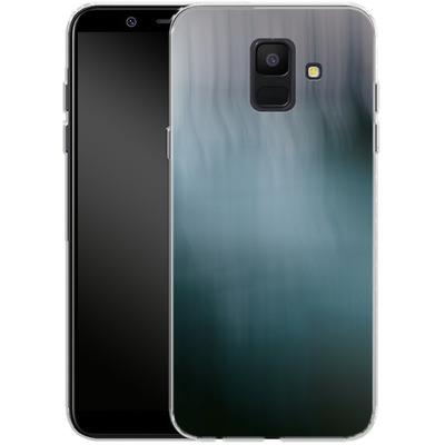 Samsung Galaxy A6 Silikon Handyhuelle - Twilight Sea Abstract von Joy StClaire