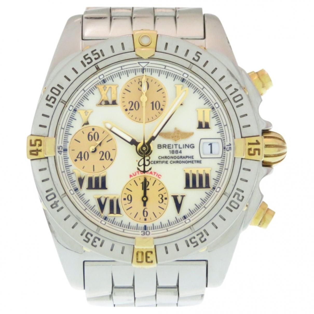 Breitling \N Uhr in  Weiss Gold und Stahl