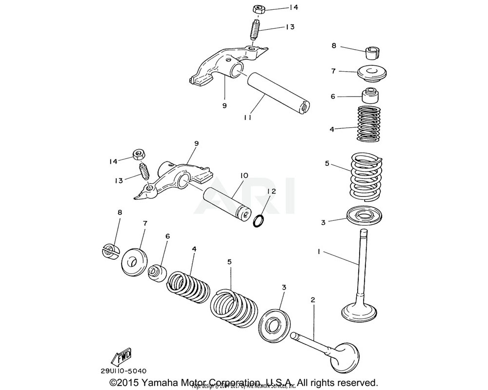 Yamaha OEM 4G0-12116-01-00 SEAT, VALVE SPRING
