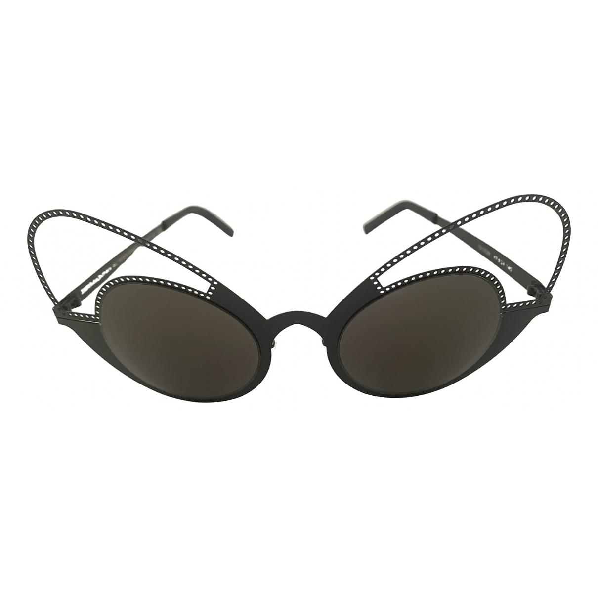 Ermanno Scervino \N Sonnenbrillen in  Schwarz Metall