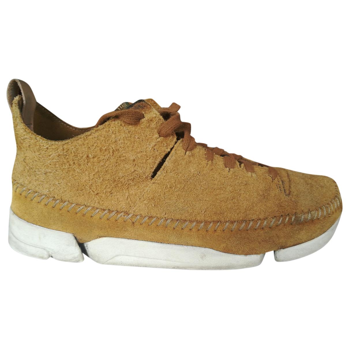 Clarks \N Sneakers in  Beige Veloursleder