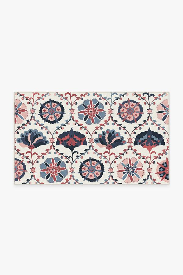 Washable Rug Cover & Pad   Safi Pink Rug   Stain-Resistant   Ruggable   3'x5'