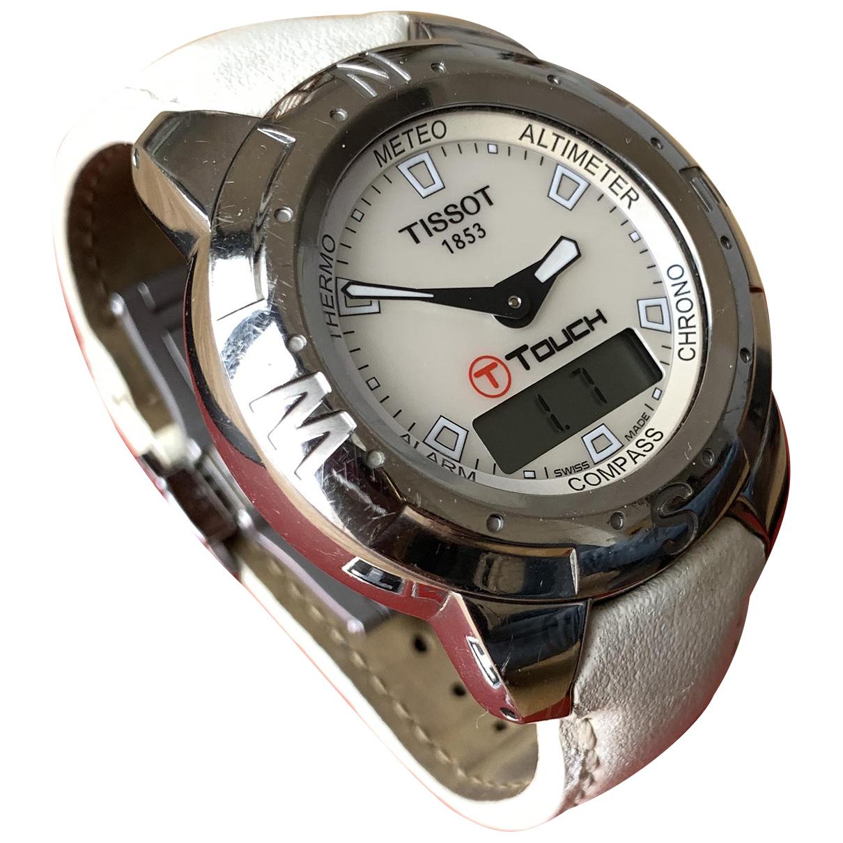 Tissot \N Uhr in  Weiss Stahl