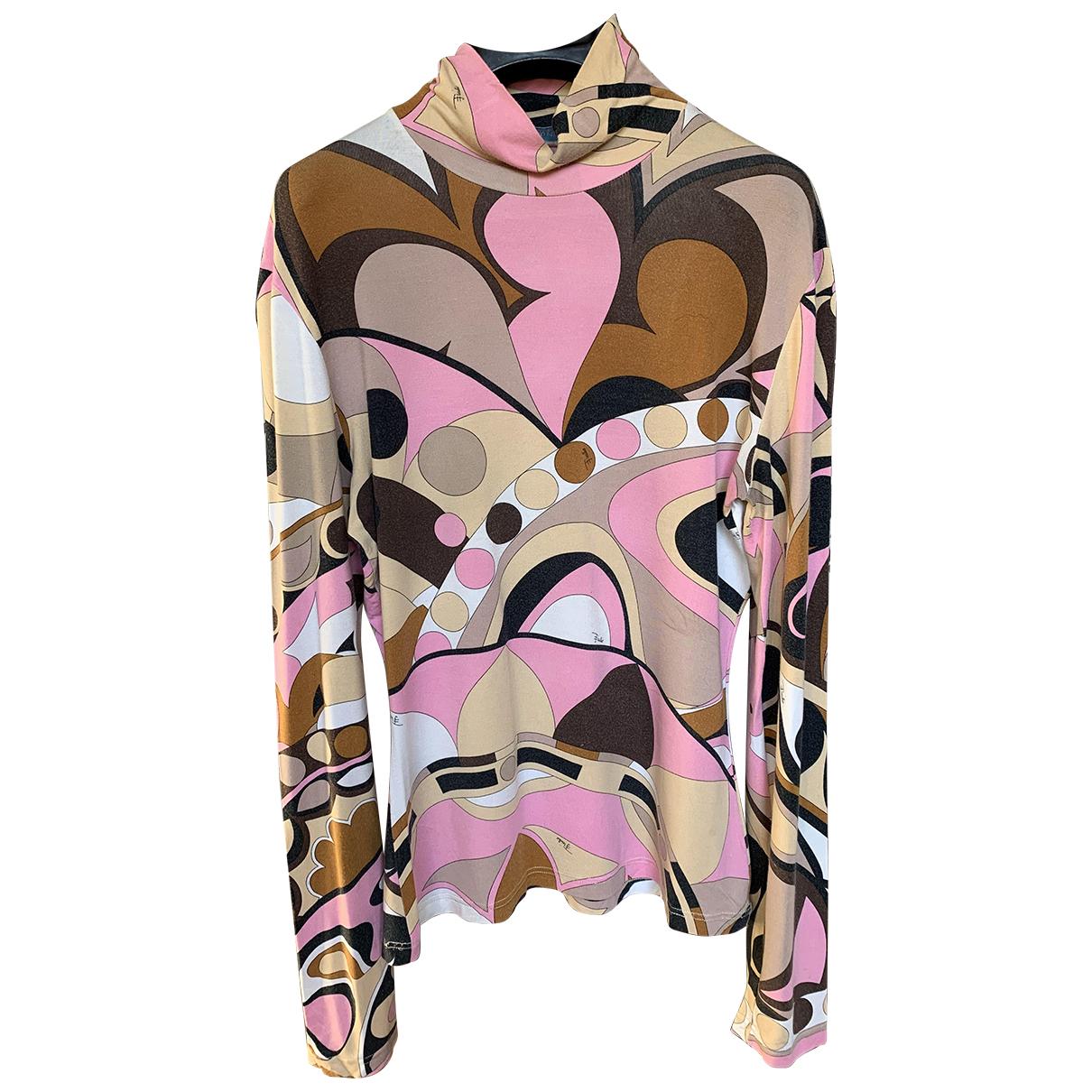 Emilio Pucci - Top   pour femme en coton - rose