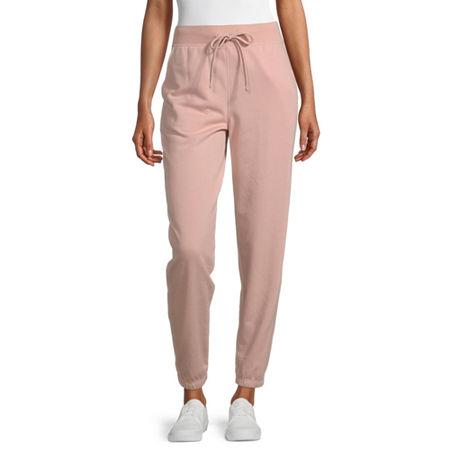 Flirtitude Womens Jogger Pant-Juniors, Large , Pink