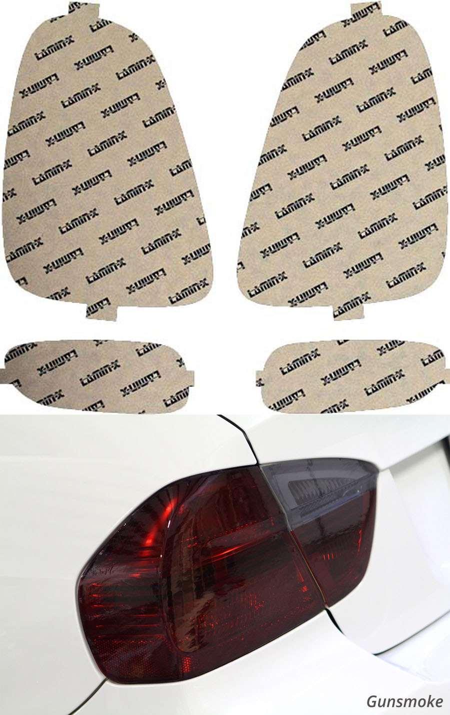 Mini Cooper 07-10 Gunsmoke Tail Light Covers Lamin-X MN207G