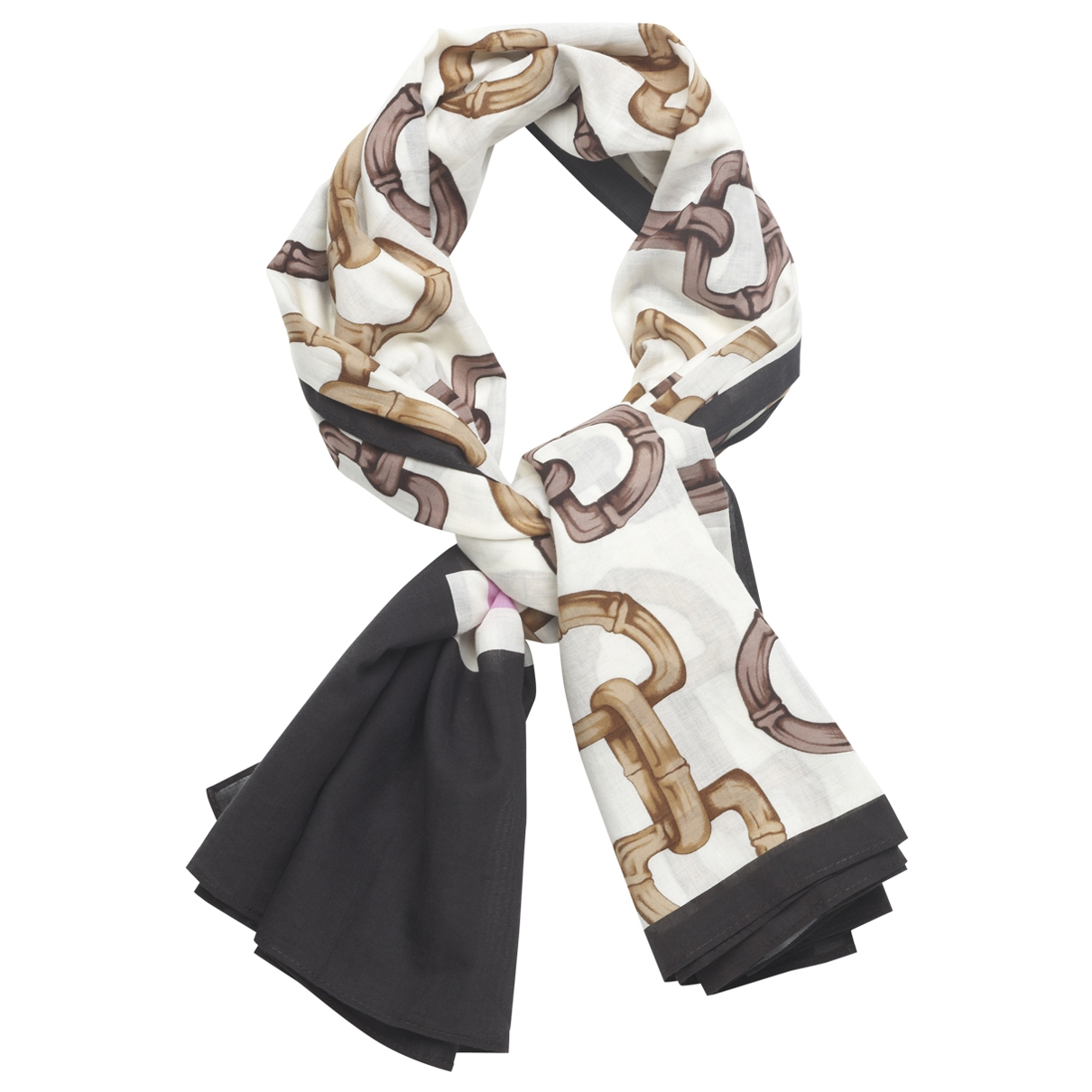 Gucci \N Brown Cotton scarf for Women \N