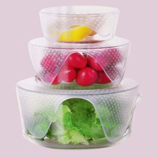 1pc Silicone Clear Bowl Cover