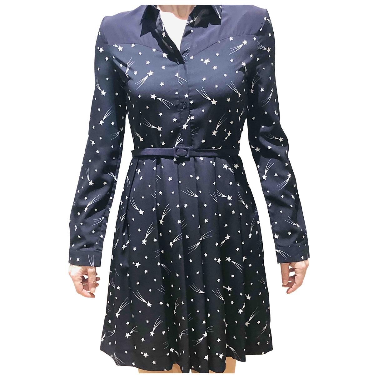 Claudie Pierlot - Robe   pour femme en coton - bleu