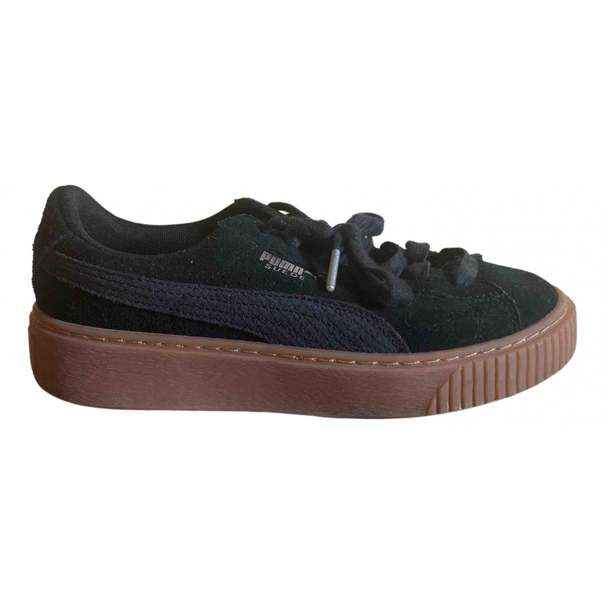 Puma \N Sneakers in  Schwarz Veloursleder