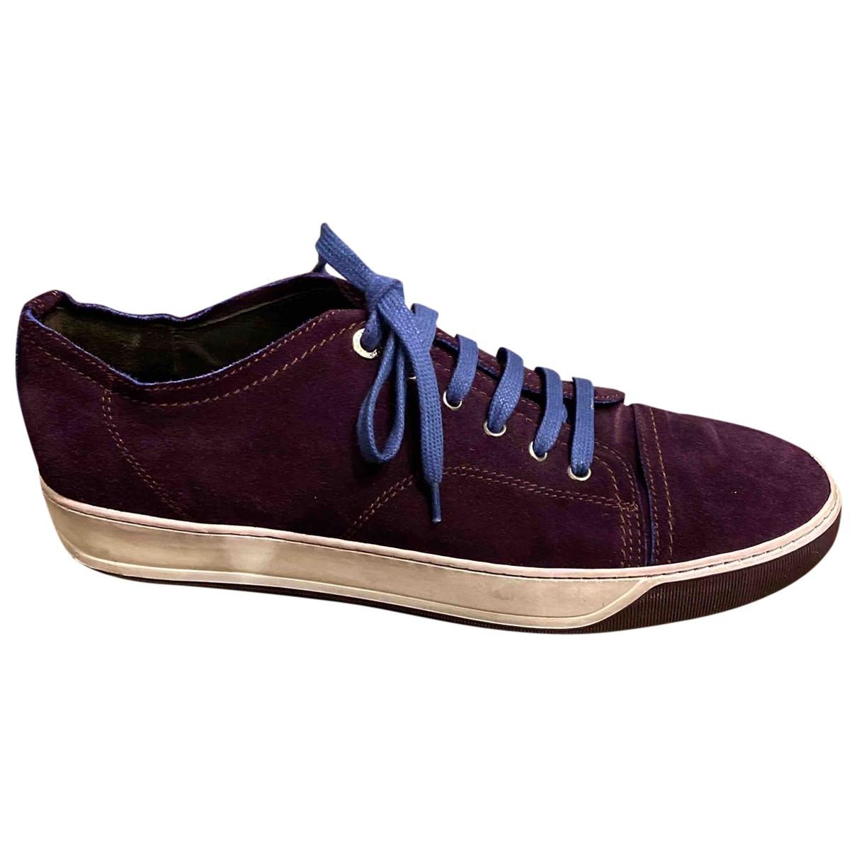 Lanvin - Baskets   pour homme en suede - violet