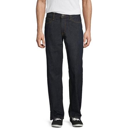 Arizona Men's Loose Fit Jeans, 42 36, Blue