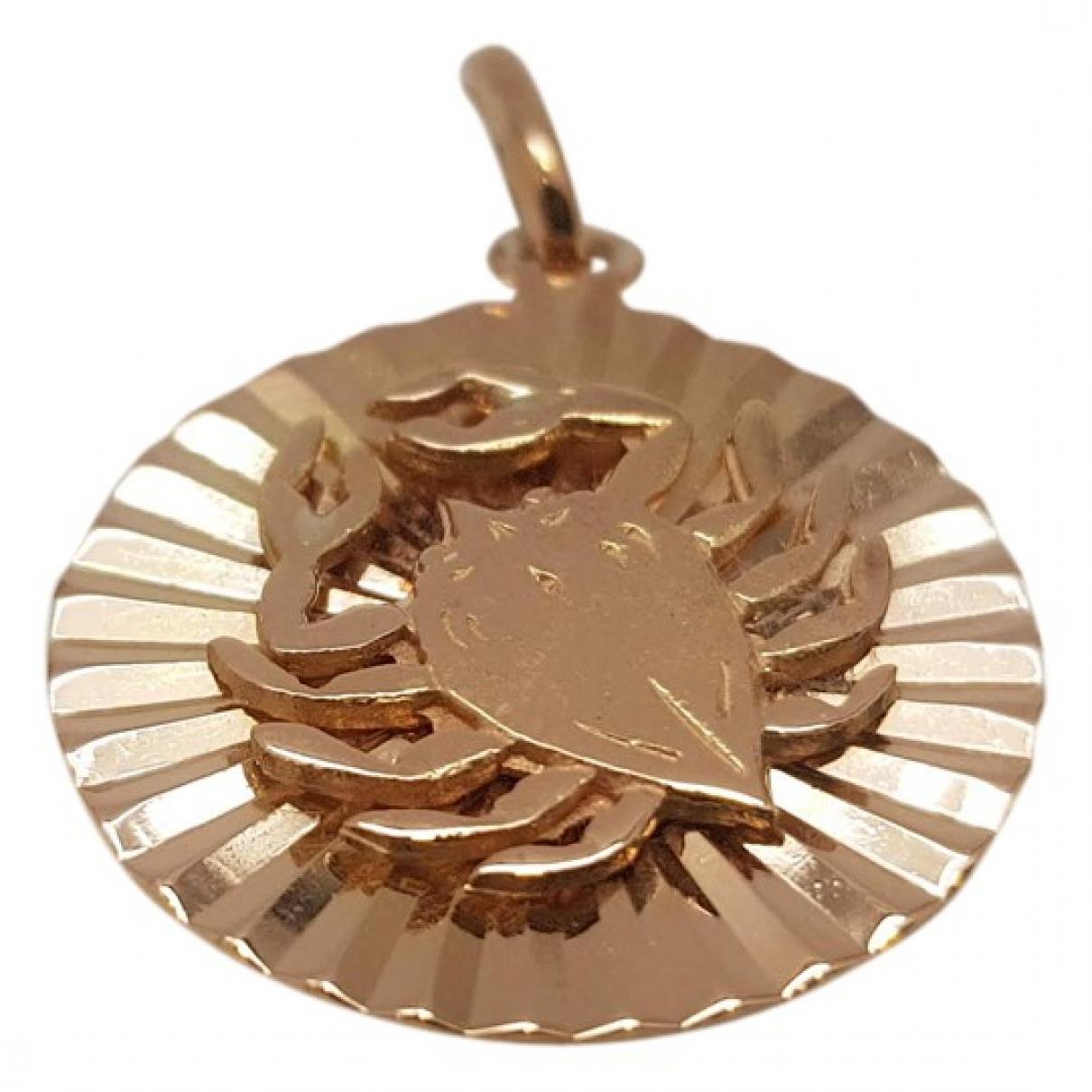 Non Signe / Unsigned Medailles Anhaenger in  Rosa Rosegold
