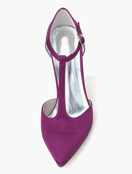 Milanoo Fabulous Satin Pointed Toe Pumps For Bride