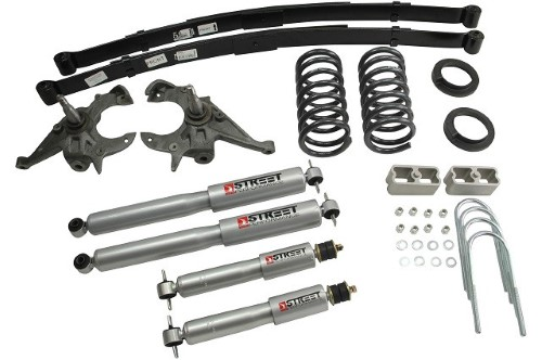 Belltech 619SP 4-5inch Front 5inch Rear Lowering Kit w/ SP Shocks Chevrolet S10 | GMC S15 Pickup 4/6cyl Ext Cab 1982-2004