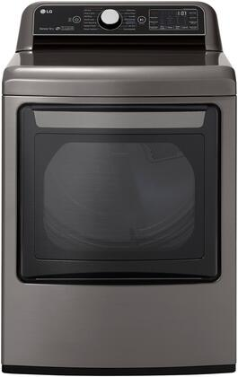 DLGX7801VE Gas Steam Dryer with 7.3 cu. ft. EasyLoad  Wi-Fi  in Graphite