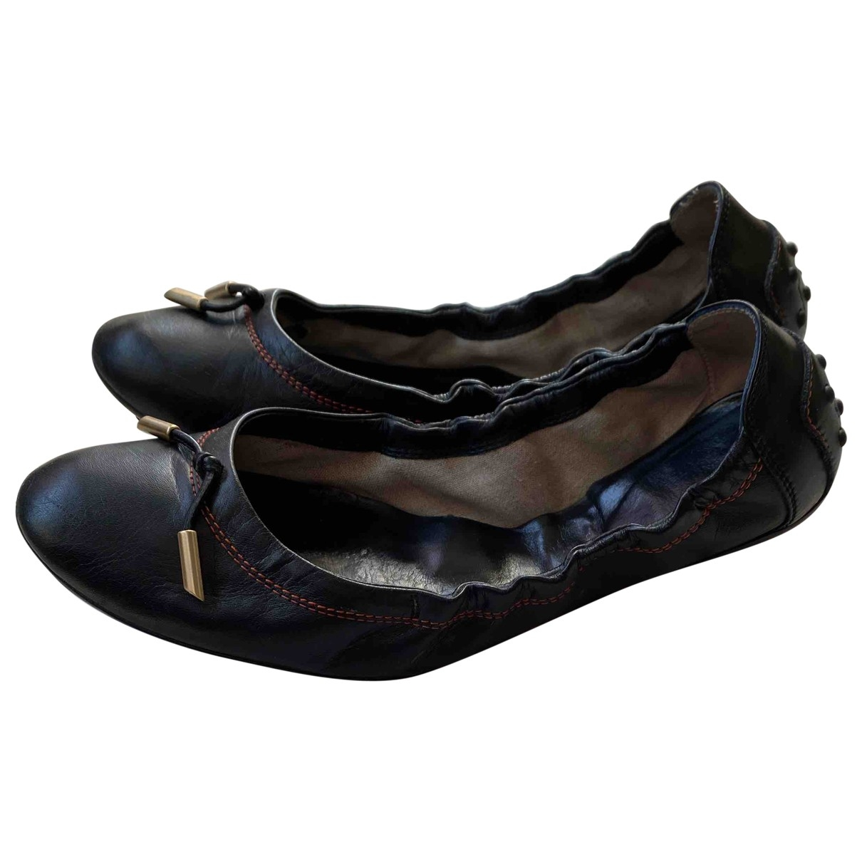 Tod's \N Black Leather Ballet flats for Women 38.5 IT