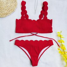 Bikini Badeanzug mit Bogenkante