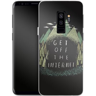Samsung Galaxy S9 Plus Silikon Handyhuelle - Get Off The Internet von Louis Ros