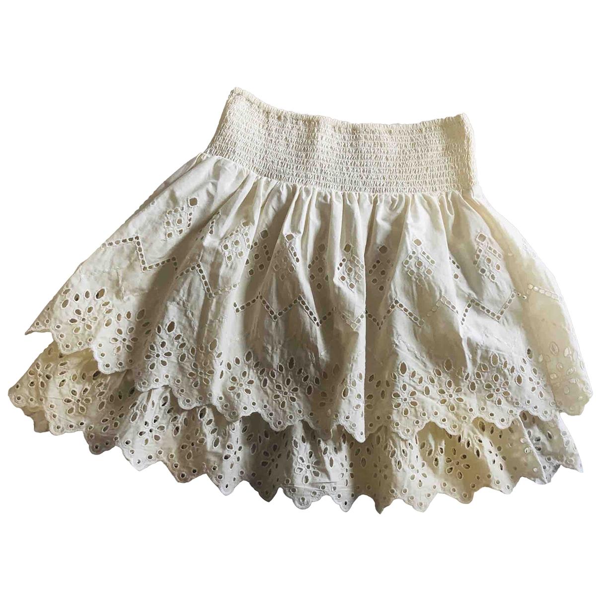 Zara - Jupe   pour femme en coton - beige