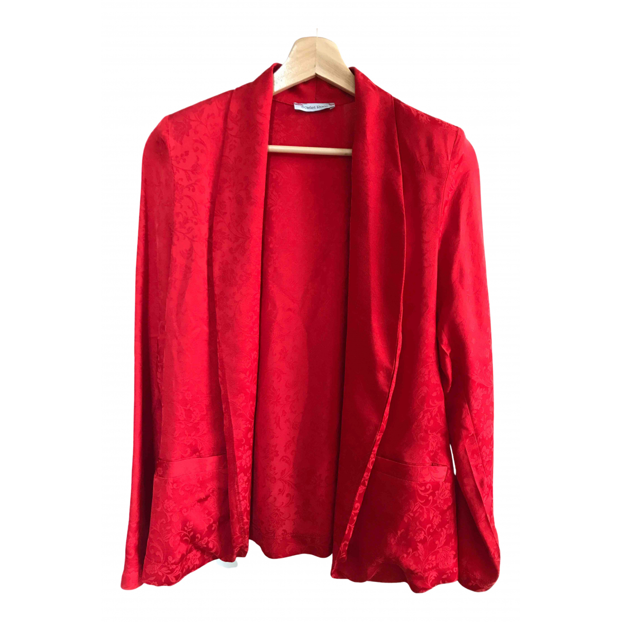 Scarlett Roos \N Jacke in  Rot Polyester