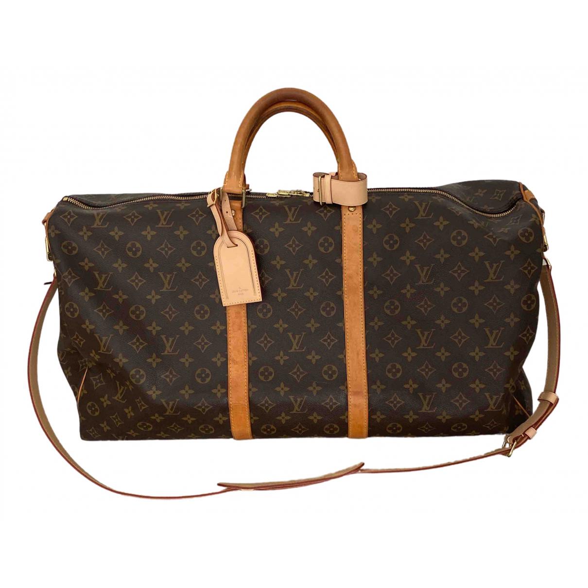 Louis Vuitton - Sac Keepall pour homme en toile - marron