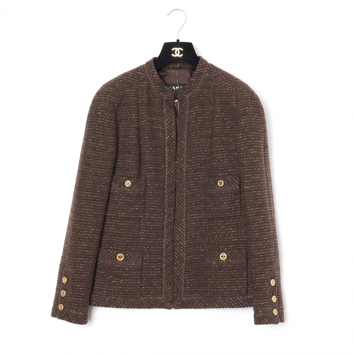 Chanel \N Brown Wool jacket for Women 40 FR