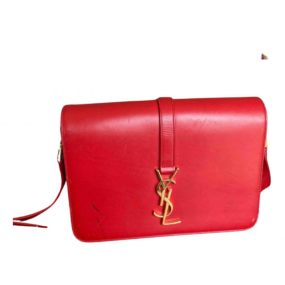 Saint Laurent Universite Handtasche in  Rot Leder