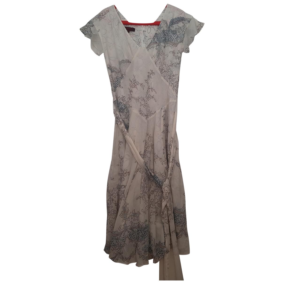 Kenzo \N Kleid in  Weiss Baumwolle