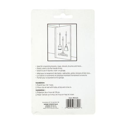 Les outils de nettoyage de stockage d'organisateur de bâti de mur d'agrafe de support de balai 2Pcs