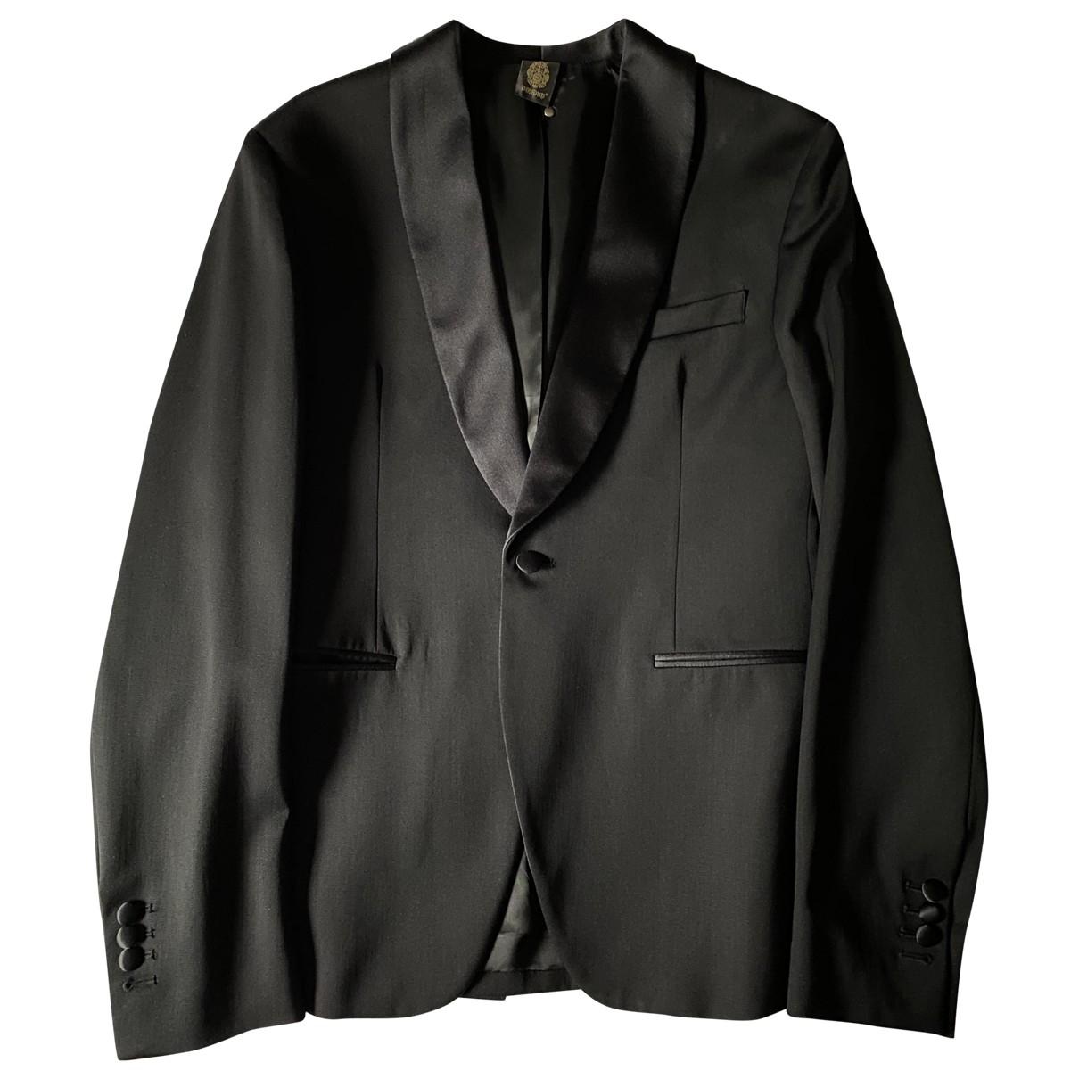 Non Signé / Unsigned \N Black Cotton jacket  for Men 50 IT