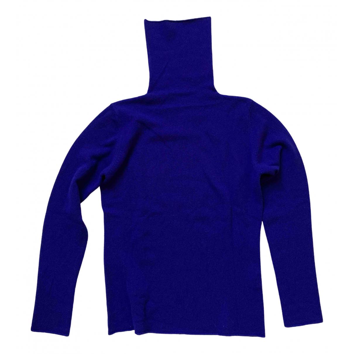 - Pull   pour femme en cachemire - bleu