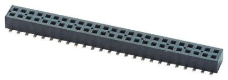 Samtec , CLP 1.27mm Pitch 60 Way 2 Row Straight PCB Socket, Surface Mount, Solder Termination