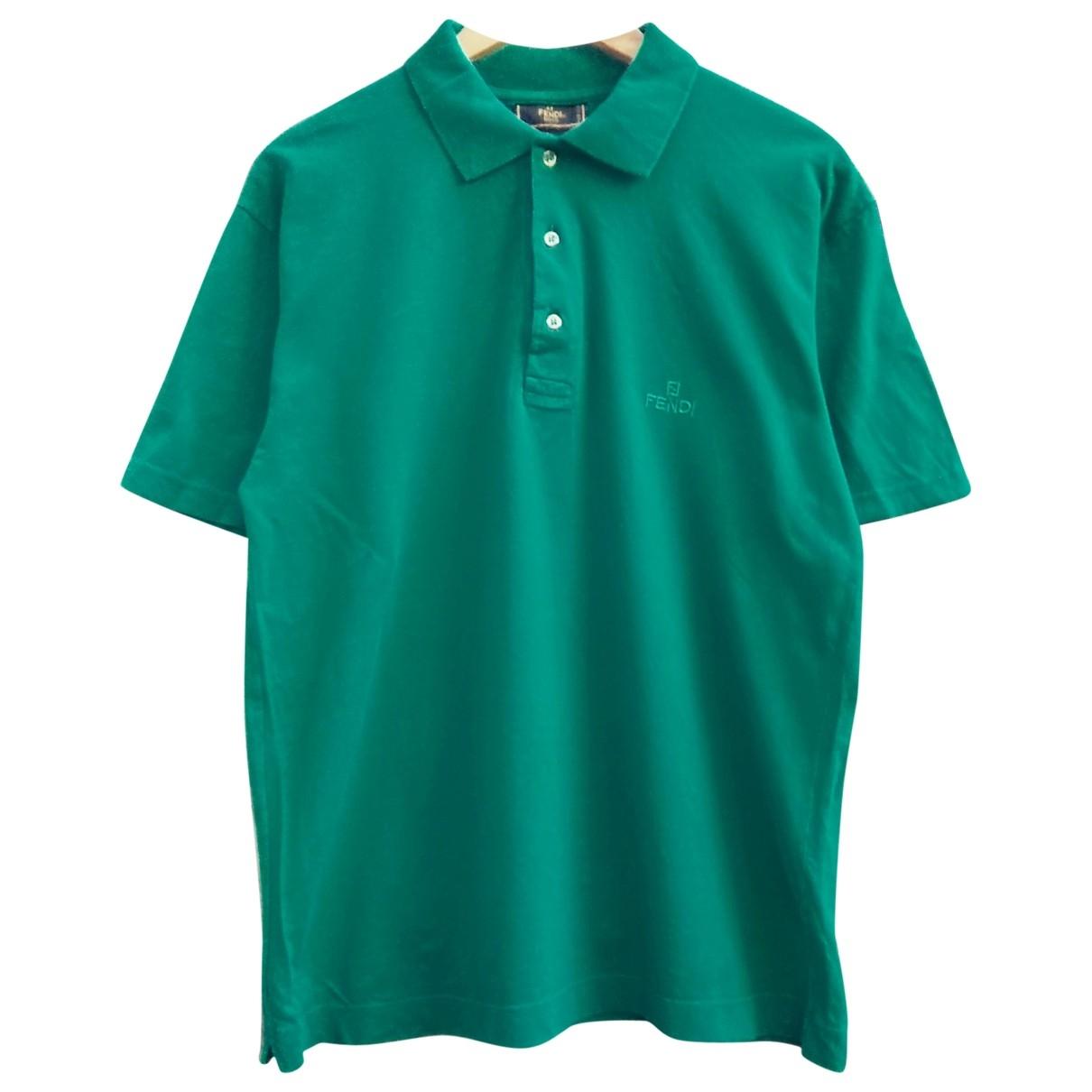 Fendi \N Poloshirts in  Gruen Baumwolle