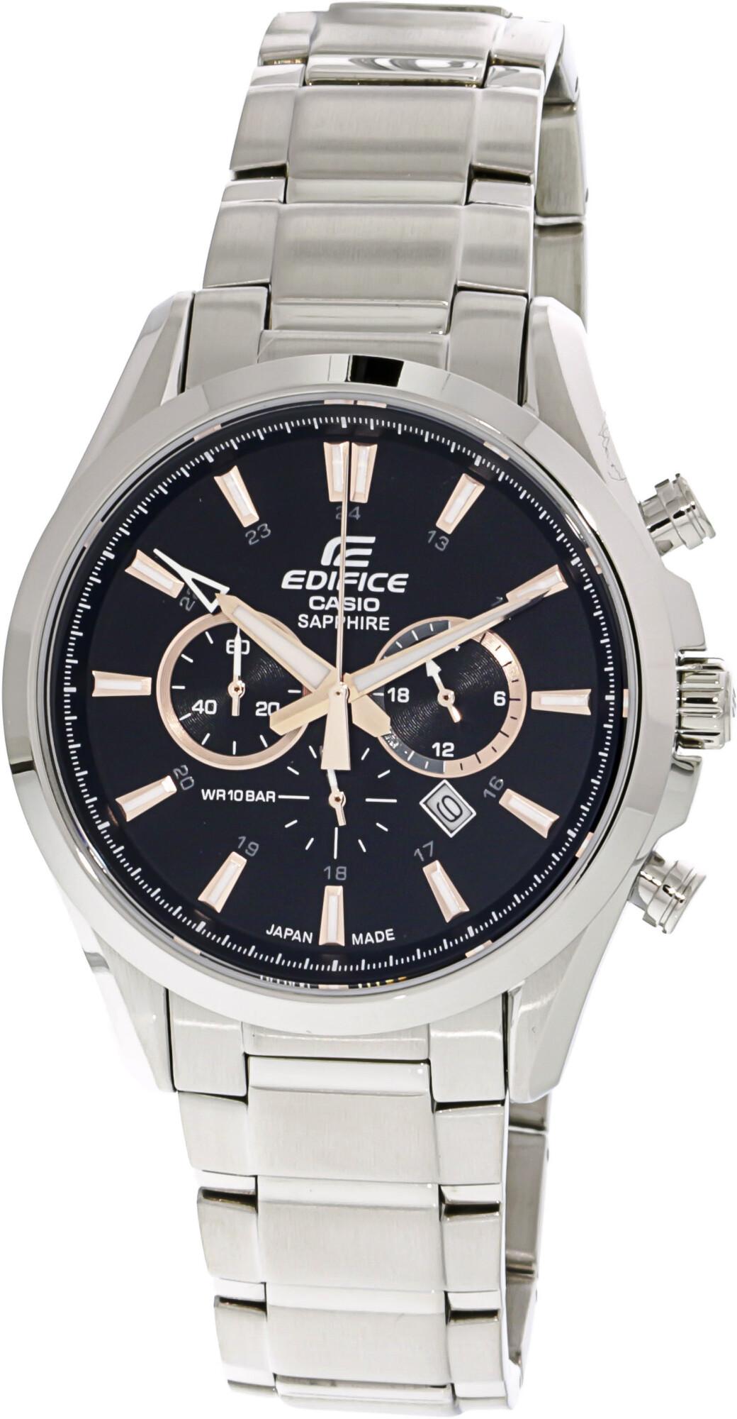 Casio Men's Edifice EFB504JD-1A9 Silver Stainless-Steel Quartz Fashion Watch