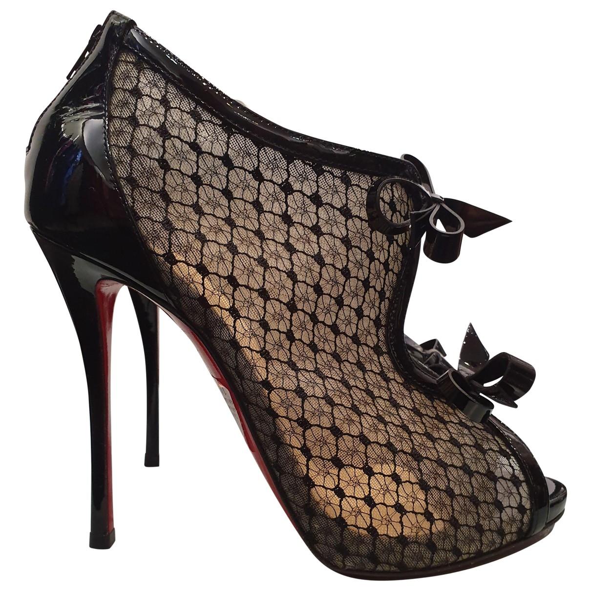 Christian Louboutin \N Black Patent leather Heels for Women 38 EU