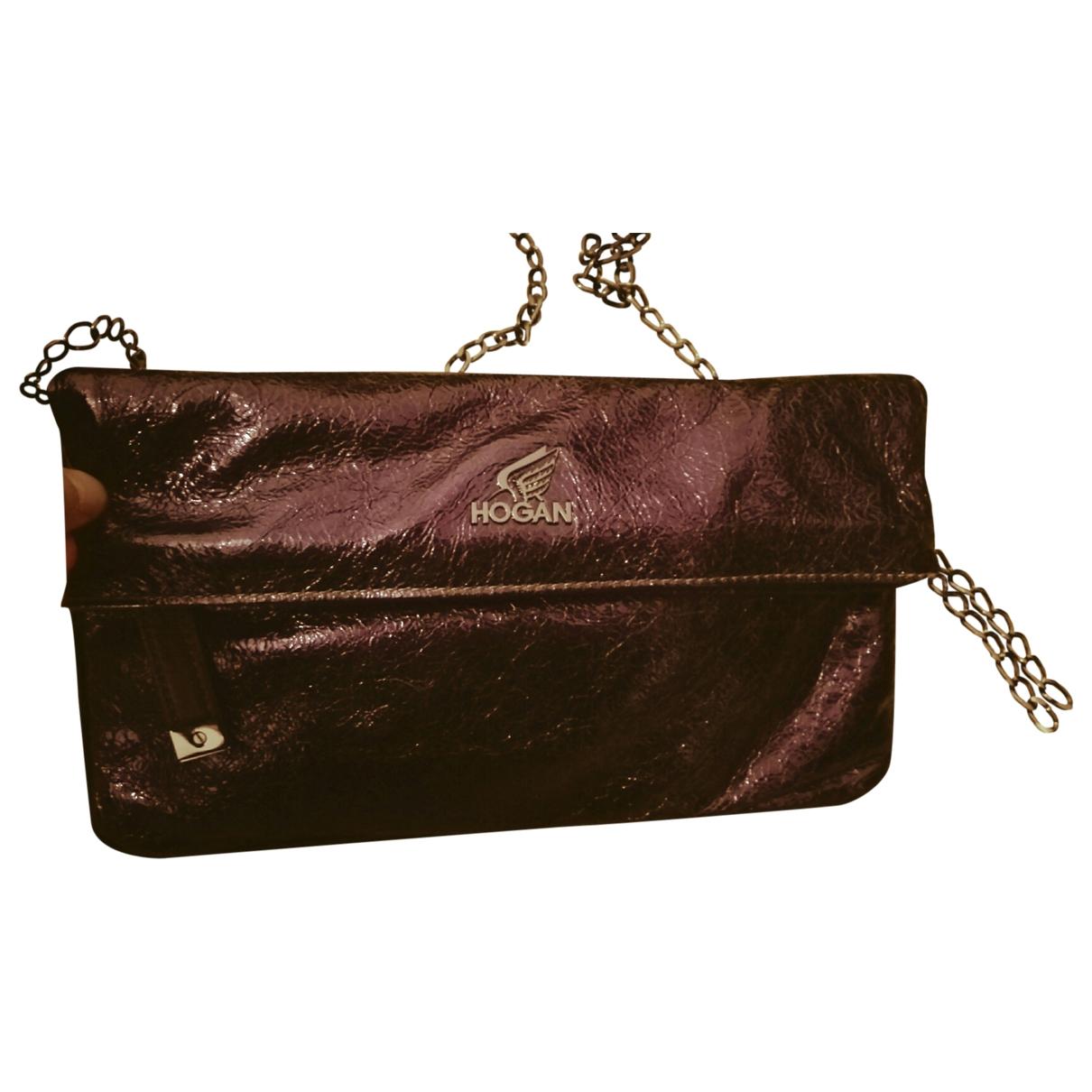 Hogan - Pochette   pour femme en cuir - violet