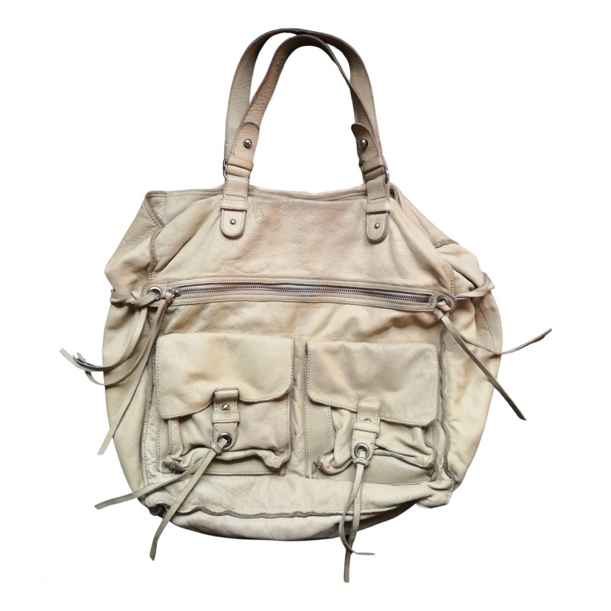 Vanessa Bruno Athe \N Handtasche in  Ecru Leder
