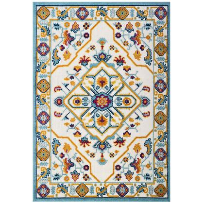 Reflect Collection R-1184A-810 Freesia Distressed Floral Persian Medallion 8x10 Indoor and Outdoor Area Rug in Multicolored