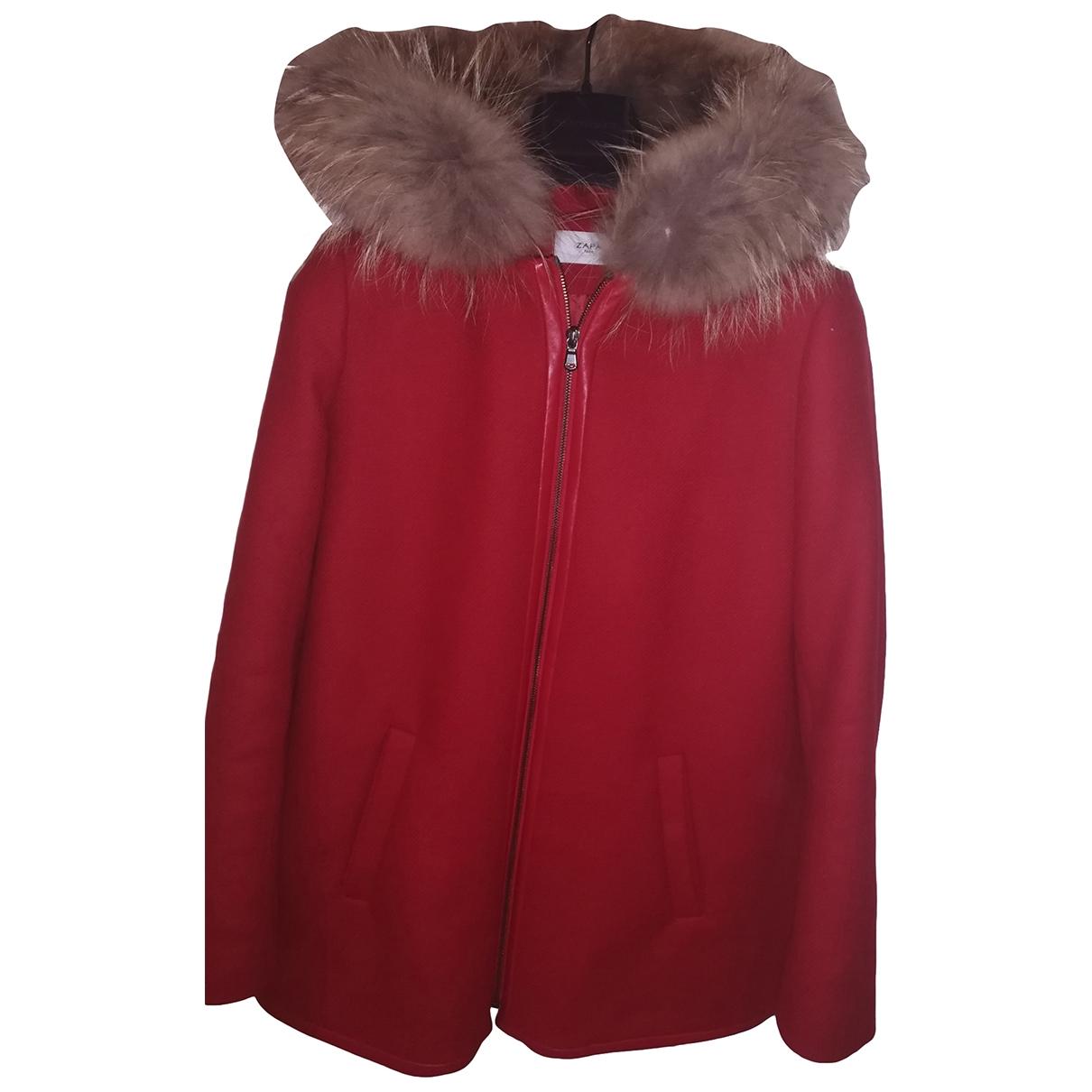 Zapa - Manteau   pour femme en laine - rouge