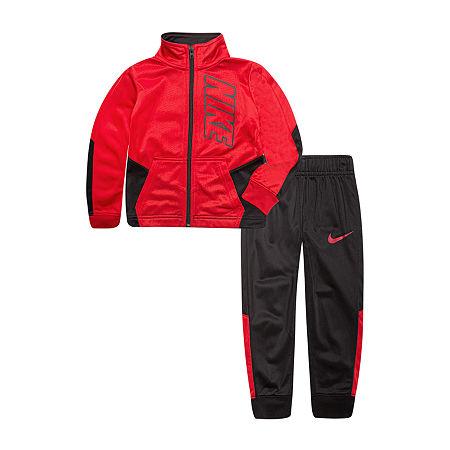 Nike Little Boys 2-pc. Track Suit, 6 , Black
