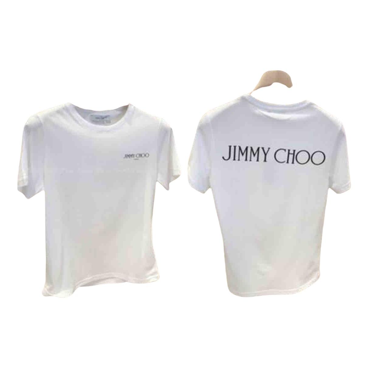 Jimmy Choo - Top   pour femme en coton - blanc