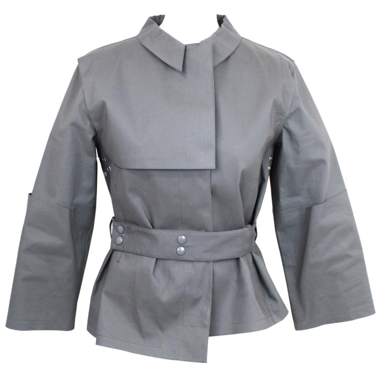 Balenciaga - Veste   pour femme en coton - gris