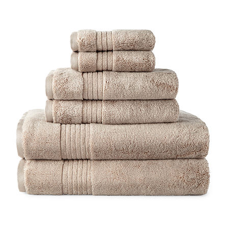 Liz Claiborne Signature Plush Bath Towel Collection, One Size , Beige