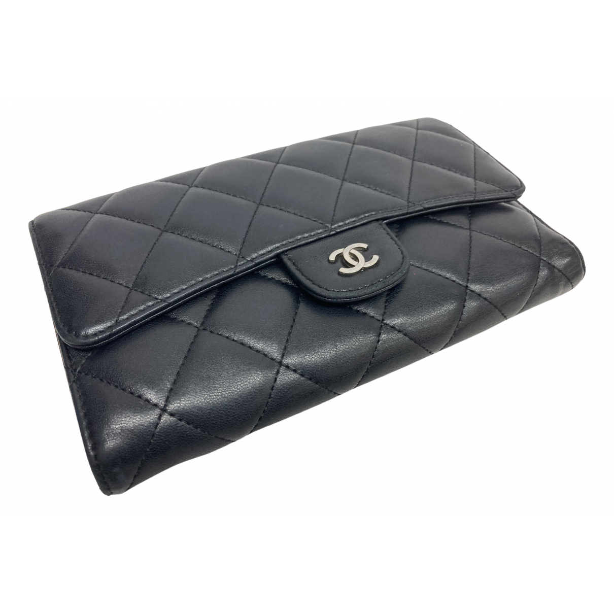 Chanel Timeless/Classique Black Leather wallet for Women \N